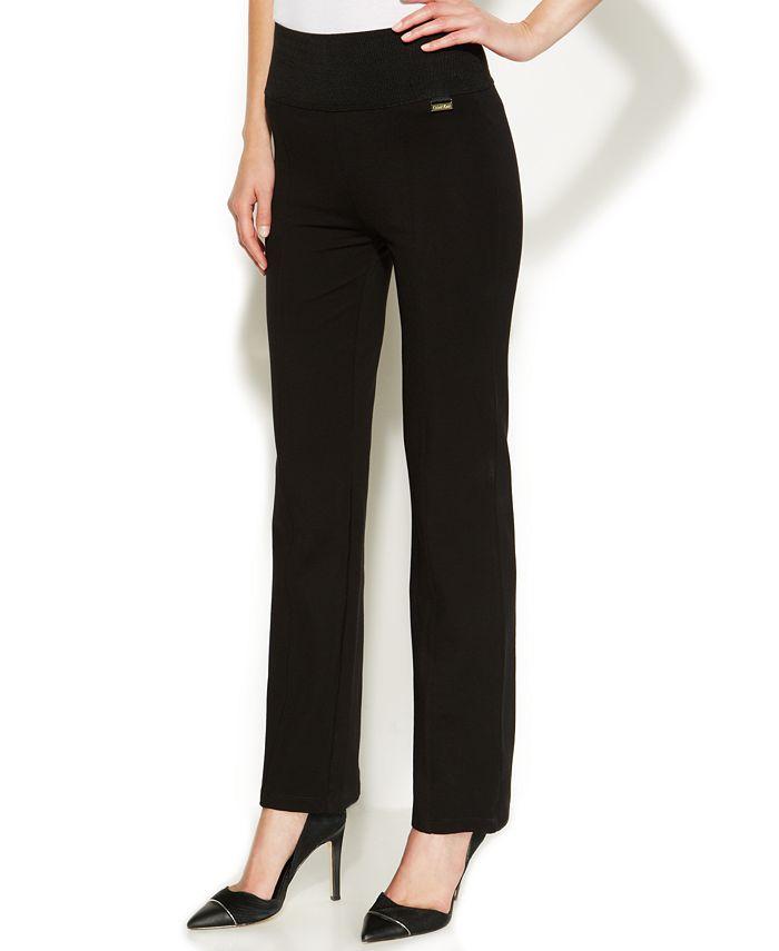 Calvin Klein - High-Rise Straight-Leg Compression Pants