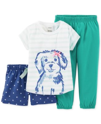 Carter's Baby Girls' 3-Piece Puppy Pajamas