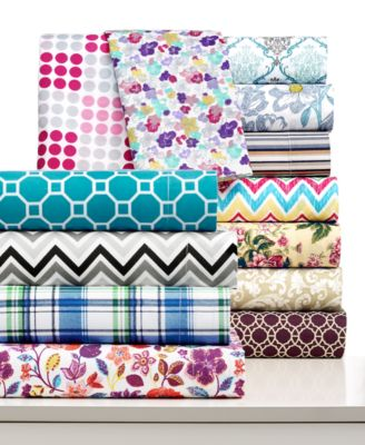 CLOSEOUT! Printed Microfiber Full Sheet Set