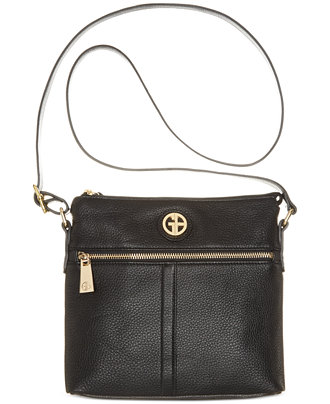 Giani Bernini Pebble Leather Zipper Crossbody