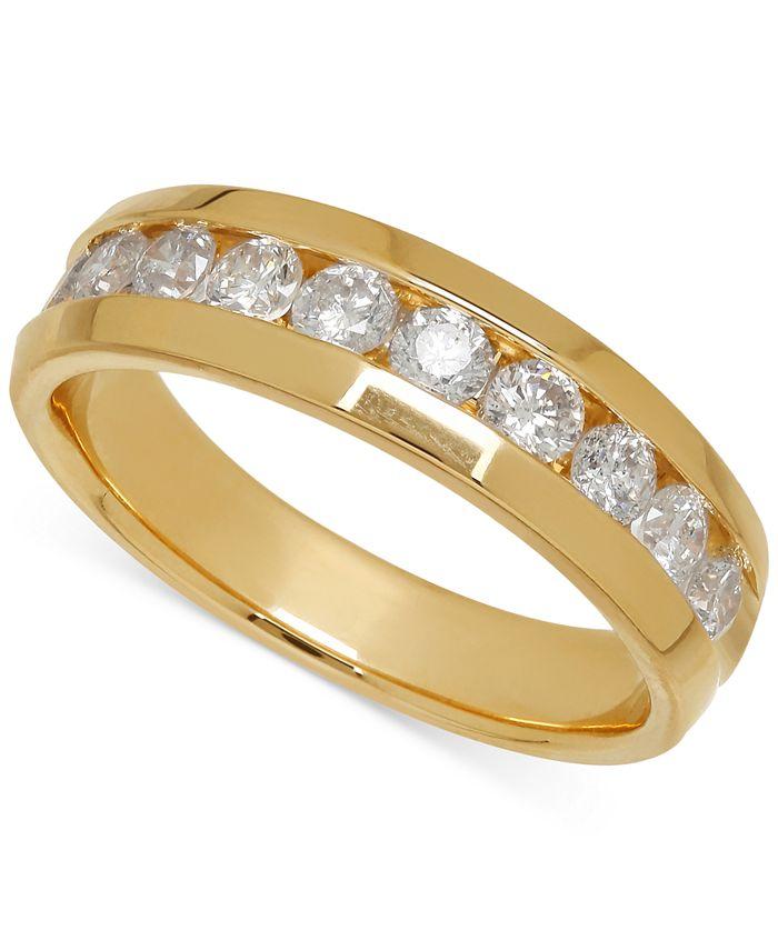 Macy's - Men's Diamond Band in 14k Yellow Gold (1 ct. t.w.)