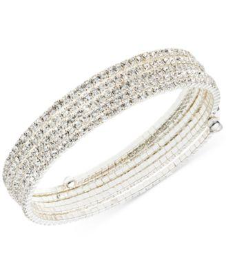 Multi-Row Rhinestone Flex Bracelet