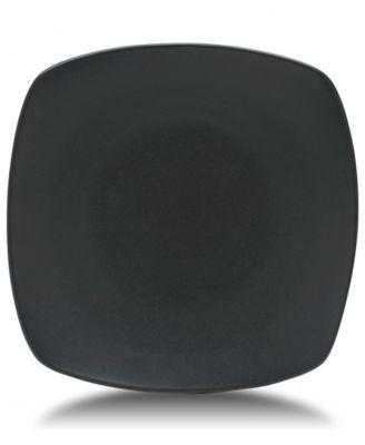"""Noritake """"Colorwave Graphite"""" Small Quad Plate, 8 1/4"""""""