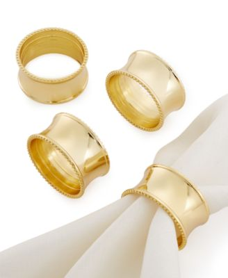Excell Beaded Elegance Set of 4 Napkin Rings