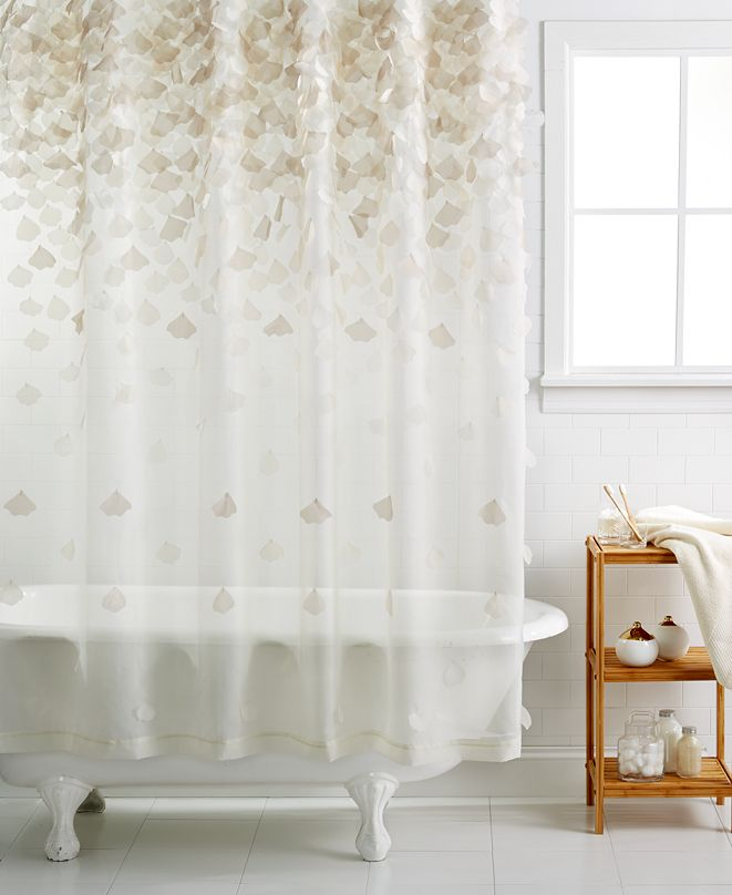 Martha Stewart Collection CLOSEOUT! Falling Petals Shower Curtain