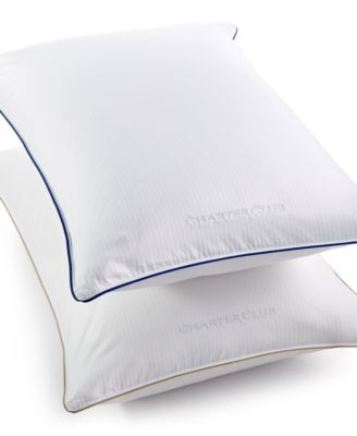 Charter Club Vail Elite Medium/Firm Density European White Down Standard/Queen Pillow, Hypoallergenic UltraClean Down, Only at Macy's