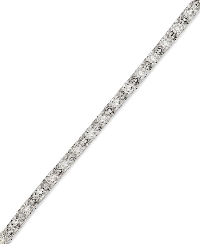 Macy's Diamond Tennis Bracelet in 14k White Gold (1/2 ct. t.w.) & Reviews - Bracelets - Jewelry & Watches - Macy's