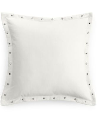 "Bar III Diamond Pleat Velvet Flange 18"" Square Decorative Pillow"