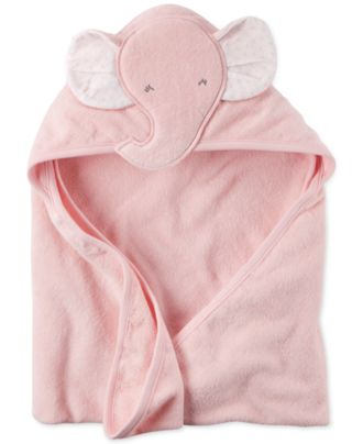 Carter's Baby Girls' Hooded Elephant Towel