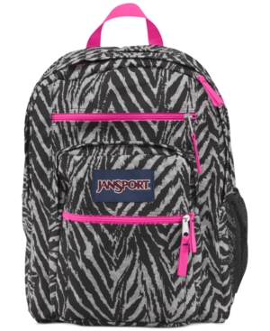 Jansport Big Student Backpack,  Grey Tar Wild at Heart