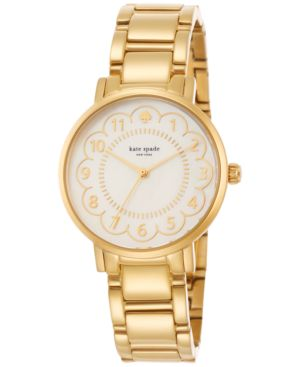 kate spade new york Women's Gramercy Gold-Tone Stainless Steel Bracelet Watch 34mm...