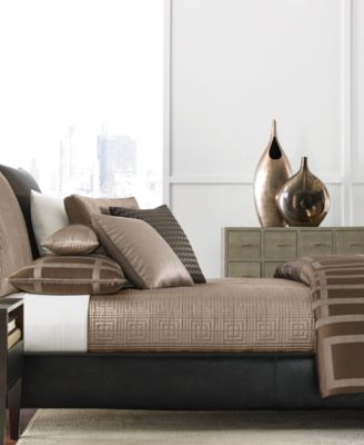 Hotel Collection Savoy Espresso King Coverlet