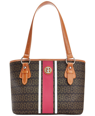 Giani Bernini Block Signature Stripe Tote