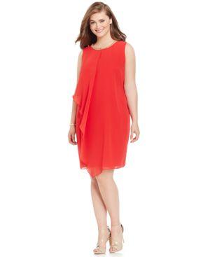Jbs Limited Plus Size Embellished Shift Dress