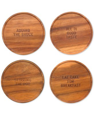 kate spade new york all in good taste Set of 4 Wood Coaster Set