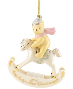 Lenox 2015 Winnie the Pooh Baby's 1st Christmas Dated Ornament