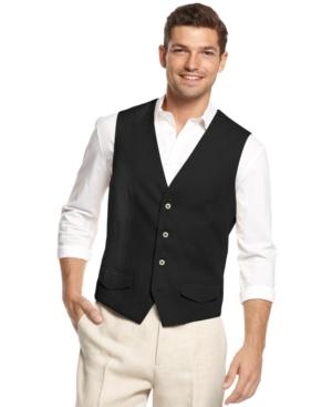 Tasso Elba Linen Vest $39.99 AT vintagedancer.com