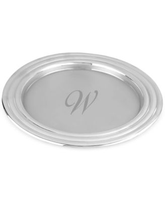 Lenox Tuscany Monogram Barware Collection, Script Letter Round Tray