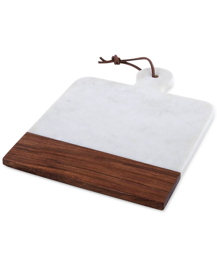 Thirstystone - Marble Square Paddle Cheeseboard with Wood Accent