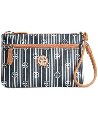Giani Bernini Stripe Signature Wristlet