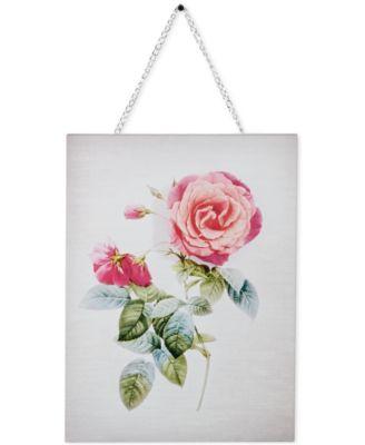 Graham & Brown Canvas Mixed-Media Botanical Bloom Wall Art II