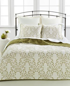 Closeout! Martha Stewart Collection Chateau Green King Quilt Bedding