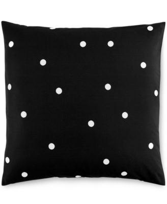 kate spade new york Deco Dot Black European Sham