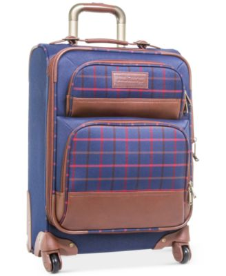 "CLOSEOUT! 60% Off Tommy Hilfiger Perfect Plaid 21"" Carry-on Spinner Suitcase, Only at Macy's"