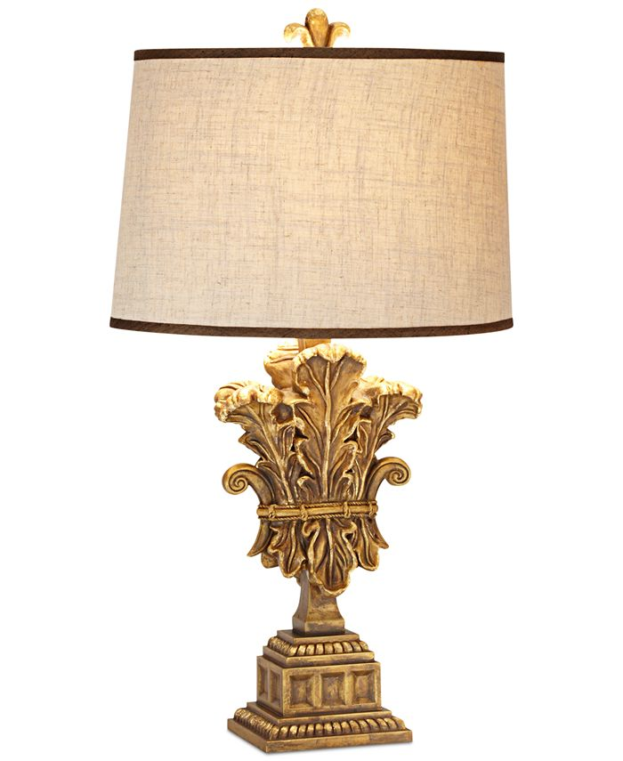 Pacific Coast - Romantic Palace Wood & Metal Table Lamp