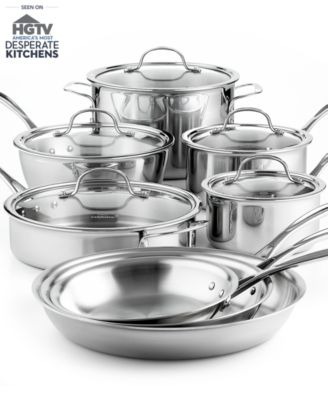 Calphalon Tri-Ply Stainless Steel 13 Piece Cookware Set