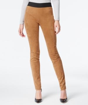 Inc International Concepts Faux-Suede Pull-On Skinny Pants Only at Macys $36.99 AT vintagedancer.com
