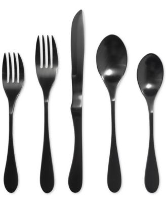 Knork 18/0 titanium coated, matte black 5-Pc. Place Setting