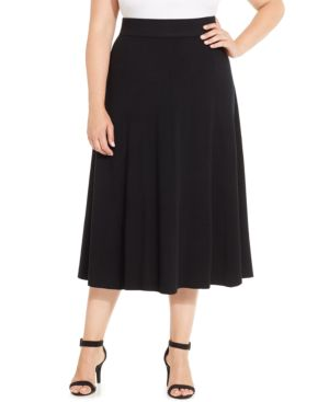 Charter Club Plus Size Pull-On A-Line Skirt, Only at Macy's