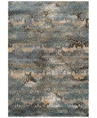 CLOSEOUT! Modern Abstracts Salon Teal 7'10