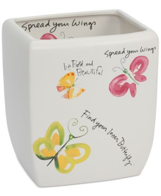 Creative Bath Flutterby Wastebasket