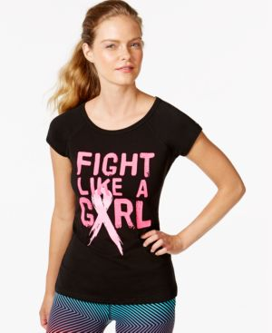 Ideology Short-Sleeve Breast Cancer Awareness Tee, Only at Macy's