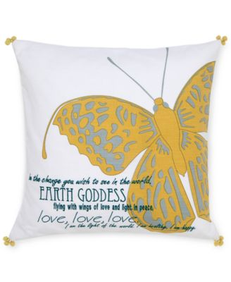 "Under the Canopy Metamorphosis 18"" Square Earth Goddess Decorative Pillow"