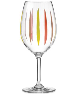 Dansk The Burbs Collection Acrylic Sunflower Stemmed Wine Glass