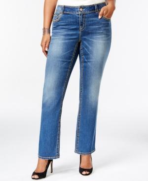 American Rag Plus Size Slim Bootcut Jeans, Alice Wash