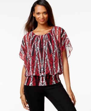 Style & Co. Flutter-Sleeve Banded-Hem Top, Only at Macy's