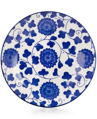 Certified International Chelsea Collection Porcelain Poppy Canape Plate