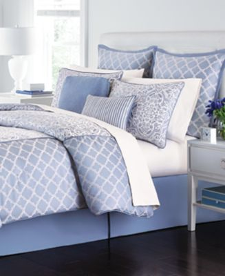 CLOSEOUT! Martha Stewart Collection Fleur Bouquet 6-Piece Queen Comforter Set, Only at Macy's