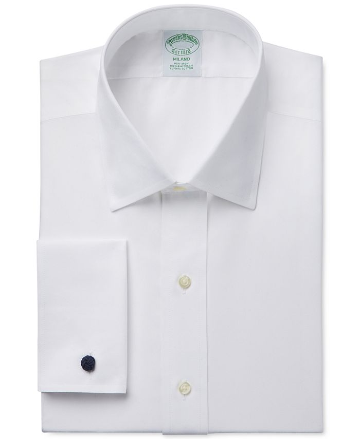 Brooks Brothers - Extra-Slim Fit Non-Iron White Solid French Cuff Dress Shirt