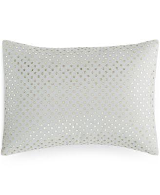 "Calvin Klein Shimmer Blossoms 12"" x 16"" Decorative Pillow"