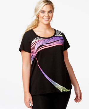 Ideology Plus Size Active Graphic T-Shirt, Only at Macy's
