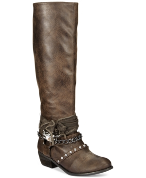 Not Rated Tualamne Tall Boots Womens Shoes $67.99 AT vintagedancer.com