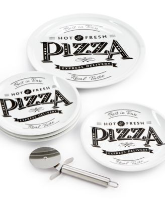 Tabletops Unlimited 6-Pc. Best in Town Pizza Set