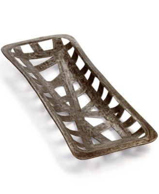 Heart of Haiti Recycled Metal Rectangle Ribbon Cutout Tray