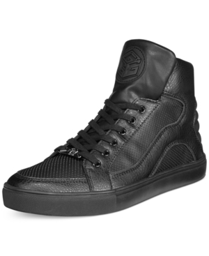 Guess Thorley Black Logo High-Top Sneakers Men's Shoes