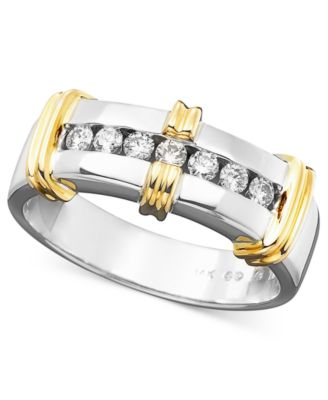 Mens 14k Gold Diamond Ring 1/3 ct. tw.